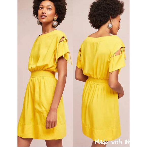 73df9113dda7 Anthropologie Dresses & Skirts - Anthropologie Tracy Reese Ivetta yellow  dress XL